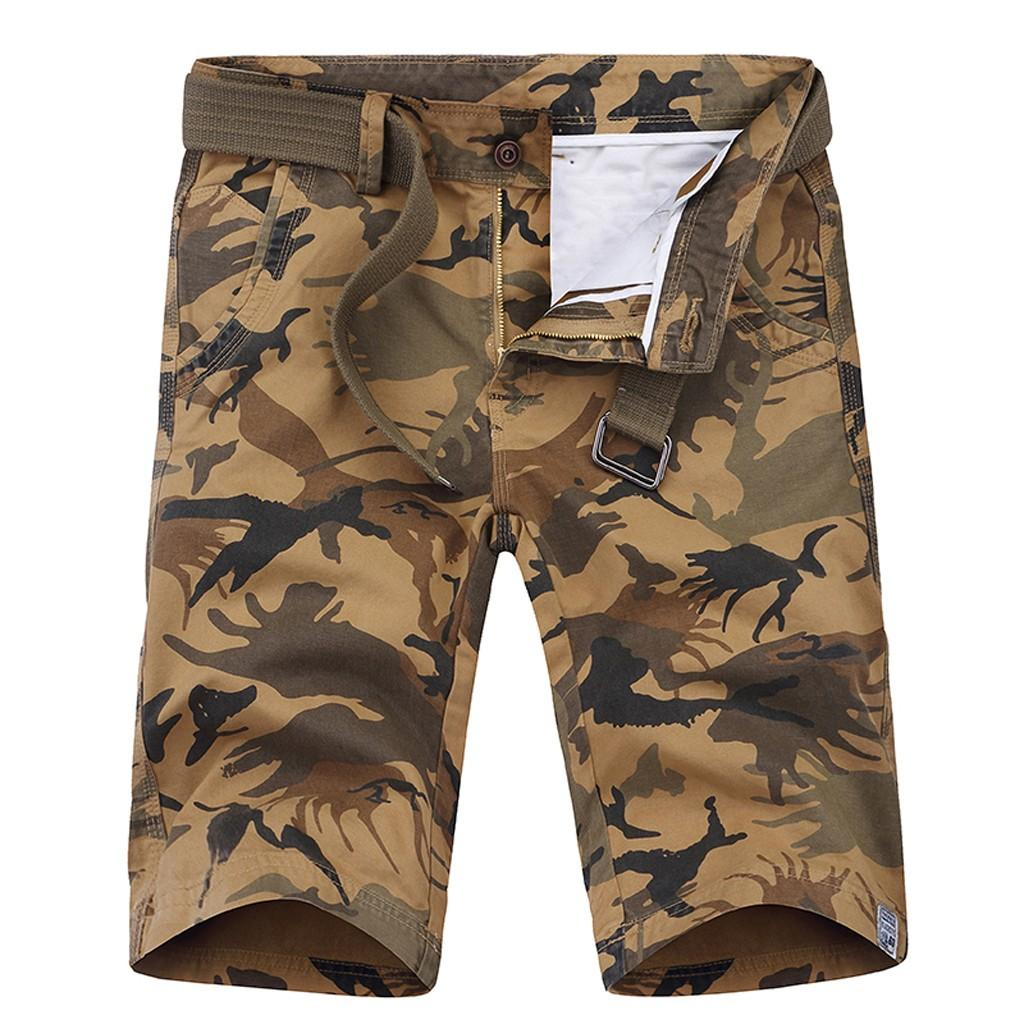 chaussures exclusives super populaire 2019 meilleures ventes Camouflage Loose Cargo Shorts Men Cool Camo Summer 2019 Short Pants Homme  Cargo Shorts Plus Size Brand Clothing 2019