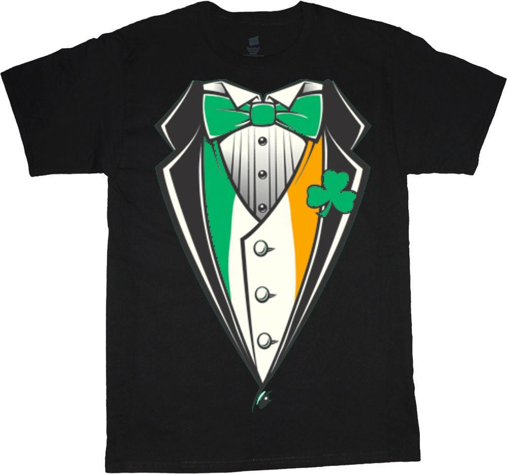 mens designer t shirts shirt Big and tall shirts for men Irish tuxedo design st patricks day Ireland tee
