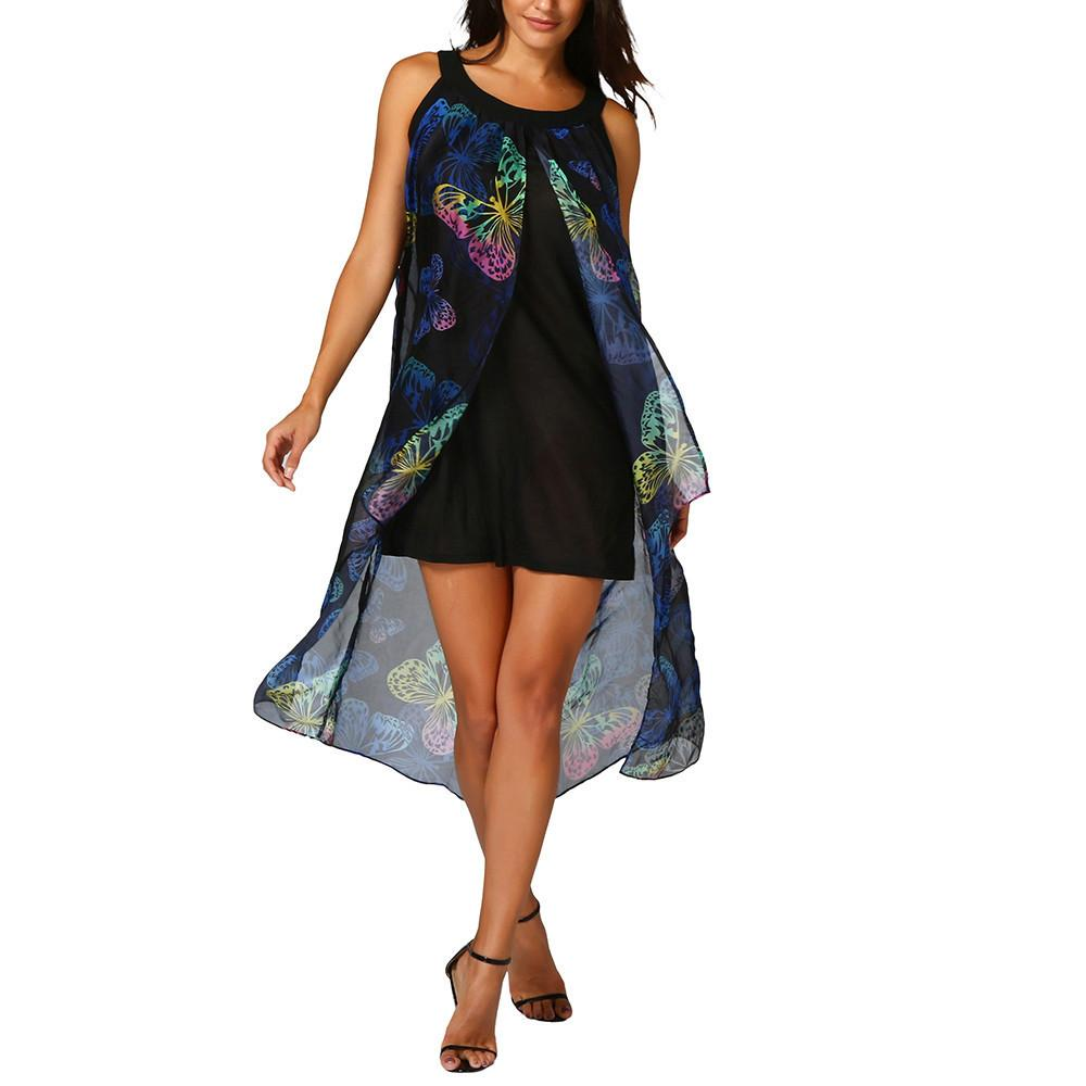 598c3997f Good Quality Womens Butterfly Long Boho Dress Lady Beach Summer New Sundrss  Dress Bodycon Hollow Mesh Cheongsam Mini Dress Green Sundresses Black Women  ...