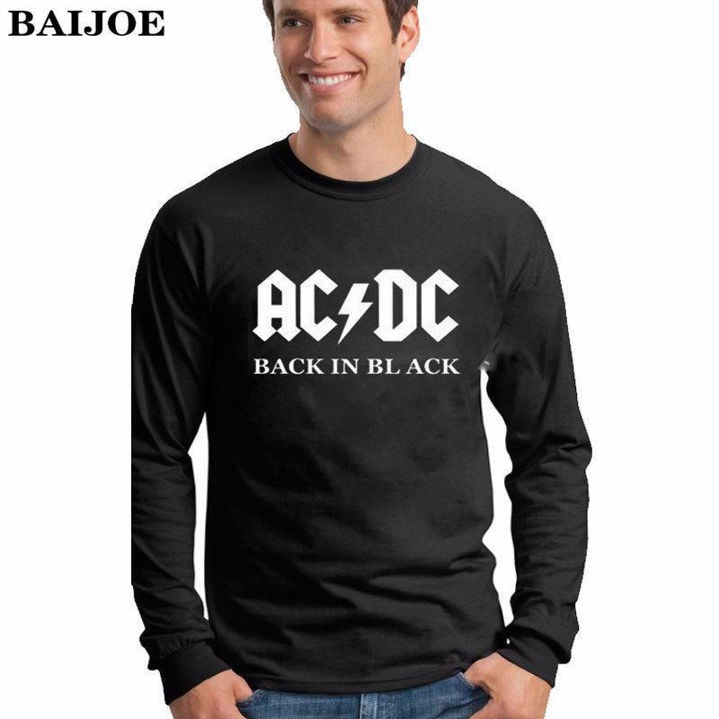 BAIJOE Plus Sizes Camisetas AC DC Band Rock T Shirt Mens Acdc Graphic T  Shirts Print Casual Tshirt O Neck Hip Hop Long Sleeve D18122903 T Shirt  Makes Shirts ... b26df03f490