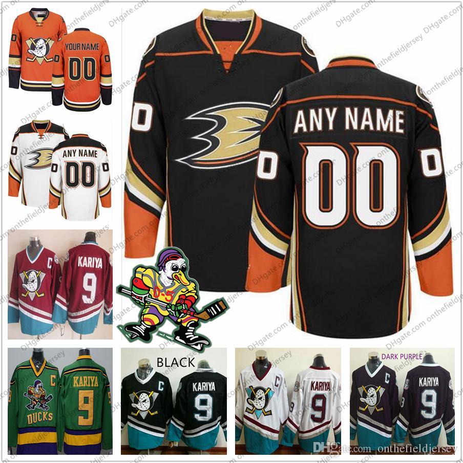 cadd929f6 Compre Anaheim Ducks Personalizado MARCA ANTIGUA Camisetas De Hockey Sobre  Hielo Logotipo Cosido Cualquier Nombre Número Vintage Naranja Blanco Negro  Tercer ...