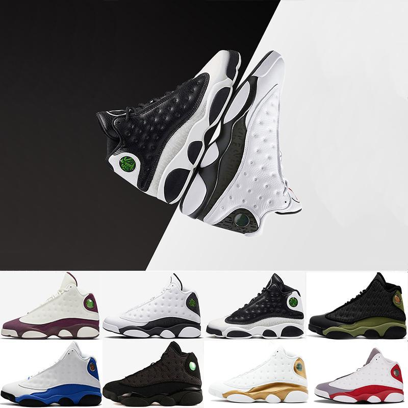 Newest arrive 13 13s Hyper Royal GS Italy Blue olive men basketball shoes 13s men sports Sneaker Athletics Shoes size 41-47