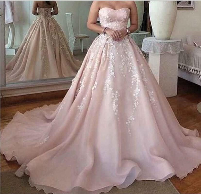 ed275bde9be 2018 Pink Ball Gown Lace Applique Pageant Evening Dresses Women S Fashion  For Bride Special Occasion Prom Bridesmaid Party Dress Maxi Evening Dress  Monsoon ...