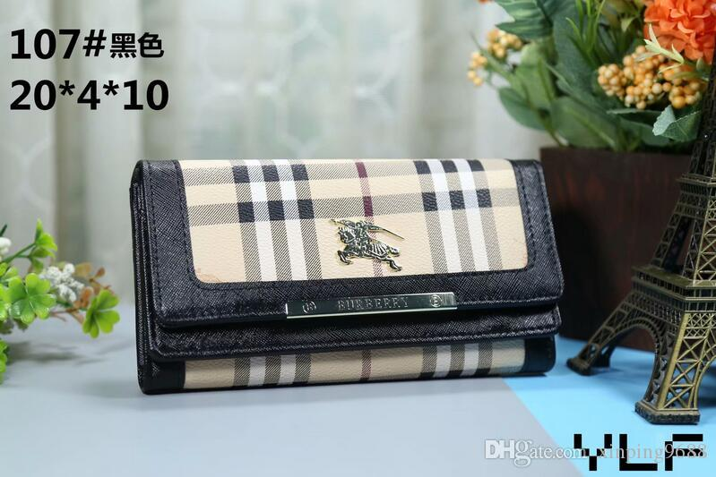 2019 new bag Free shipping billfold High quality Plaid pattern women wallet men pures high-end luxury s designer wallet free shipping