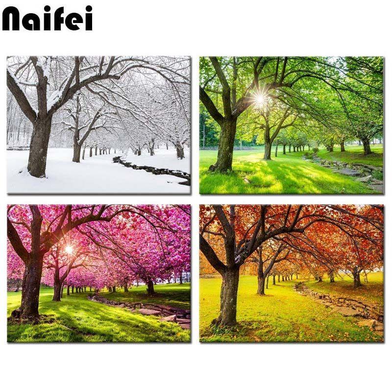 Okul öncesi Ilkbahar Ağaç Boyama Gazetesujin