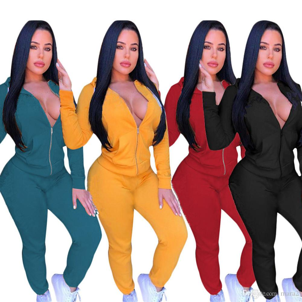 Women designer brand 2 piece set outfit cardigan zip neck long sleeve outwear jacket bodycon leggings pants print letter spring clothing 22
