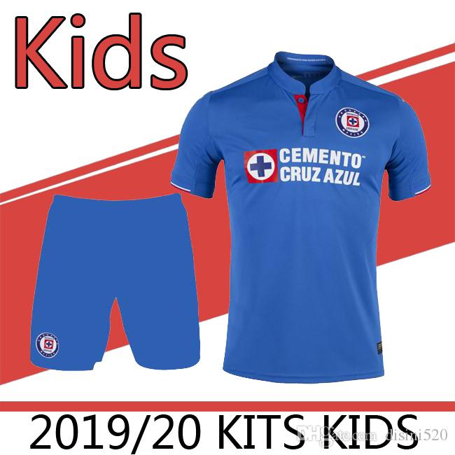 9a213afe528 2019 2019 20 Liga MX Cruz Azul Kids Kits Home Soccer Jerseys Football Shirt  19 20 Cruz Azul Home Child Soccer Sets Football Shirts From Disini520