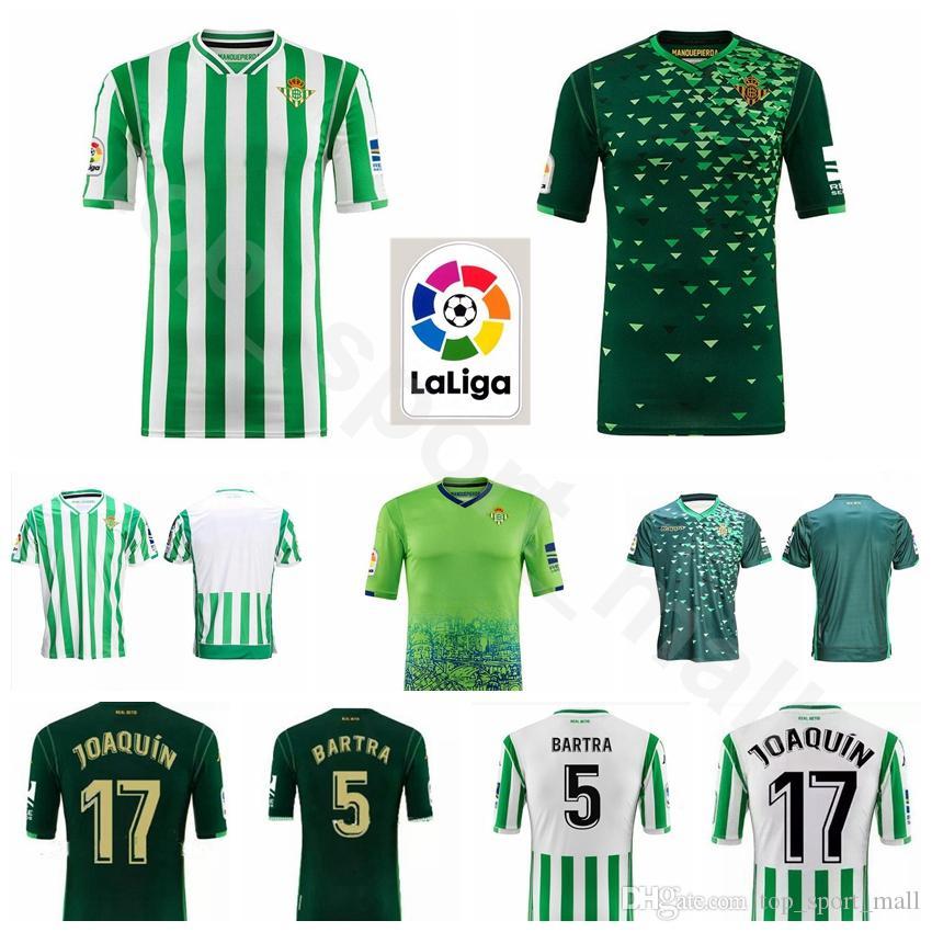 2d28a8b12 2018 2019 FC Real Betis 17 JOAQUIN Jersey Hombres Fútbol 5 BARTRA 14  WILLIAM 11 TELLO 6 CANALES Uniformes Kits De Fútbol Camiseta Por  Dickssportinggoods