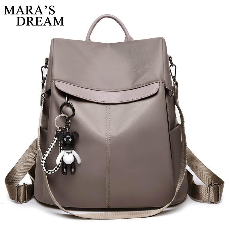 acdcf0cbb446 Mara S Dream High Quality PU Leather Women Backpack Fashion Solid Black School  Bags For Teenager Girls Casual Women Backpacks Swiss Backpack Laptop  Rucksack ...