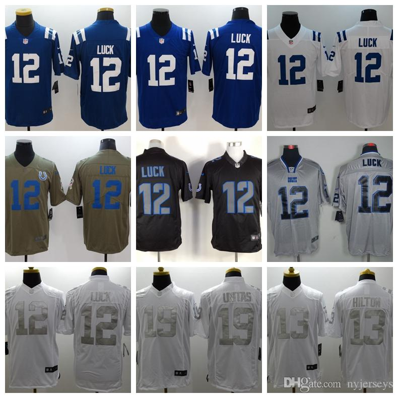 286f337e13f 2019 53 Darius Leonard 2019 Indianapolis 12 Andrew Luck Colts 18 Peyton  Manning 13 T.Y. Hilton Royal Player Game Jerseys 2019 New From Nyjerseys