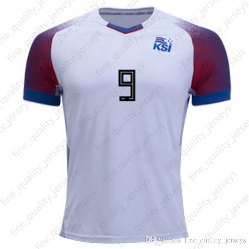 detailing e9722 0e8c2 Iceland jerseys 2018 World Cup Iceland G.SIGURDSSON #10 GUDMUNDSSON #6  Soccer Jersey SIGTHORSSON #9 TRAUSTASON #21 football Top quality
