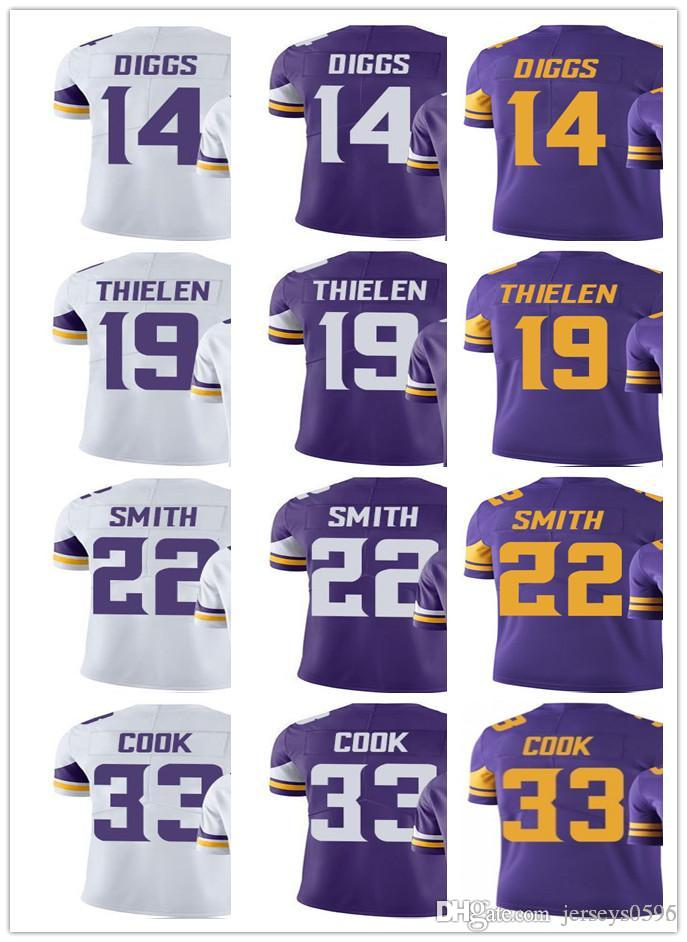 super popular b31d3 53214 Minnesota Men Women Youth Vikings Jersey #33 Dalvin Cook 14 Stefon Diggs 22  Harrison Smith 19 Adam Thielen Vapor Limited Jerseys