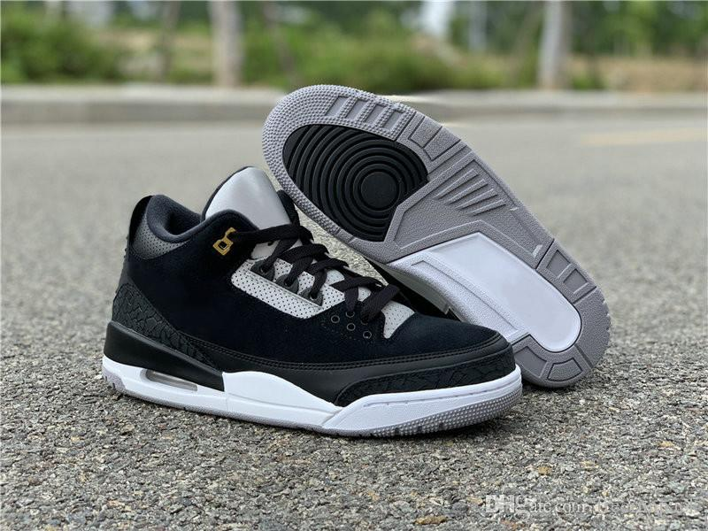 buy popular dd8c0 5f98a High Version 3 Tinker Black Cement Grey Gold Man Designer Athletic Shoes  New Suede III 3M Reflective Fashion Sneakers Come With Box