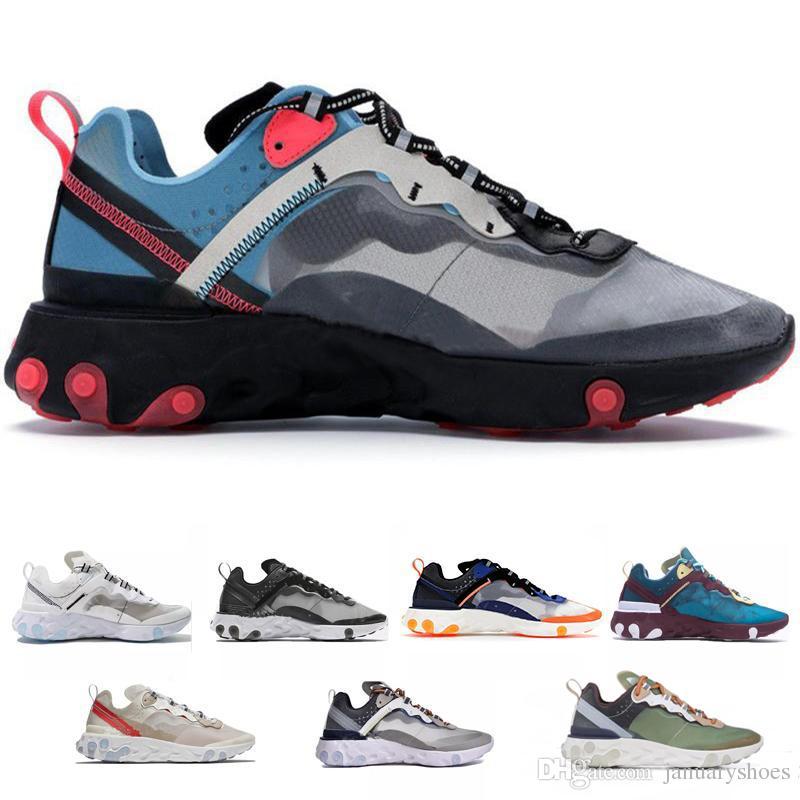 7e663e7c03 Compre Nike Air Max Airmax 87 Zapatillas De Correr Epic React Element 87  Para Hombre Mujer Blanco Negro NEPTUNE VERDE Azul Para Hombre Entrenador  Zapatillas ...