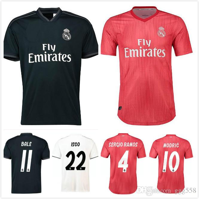 brand new 15100 bbfb9 2018 Real Madrid home away jersey 2019 ASENSIO Soccer jersey MODRIC LUCAS V  MORATA BALE KROOS ISCO BENZEMA football shirts Camisa new jerse