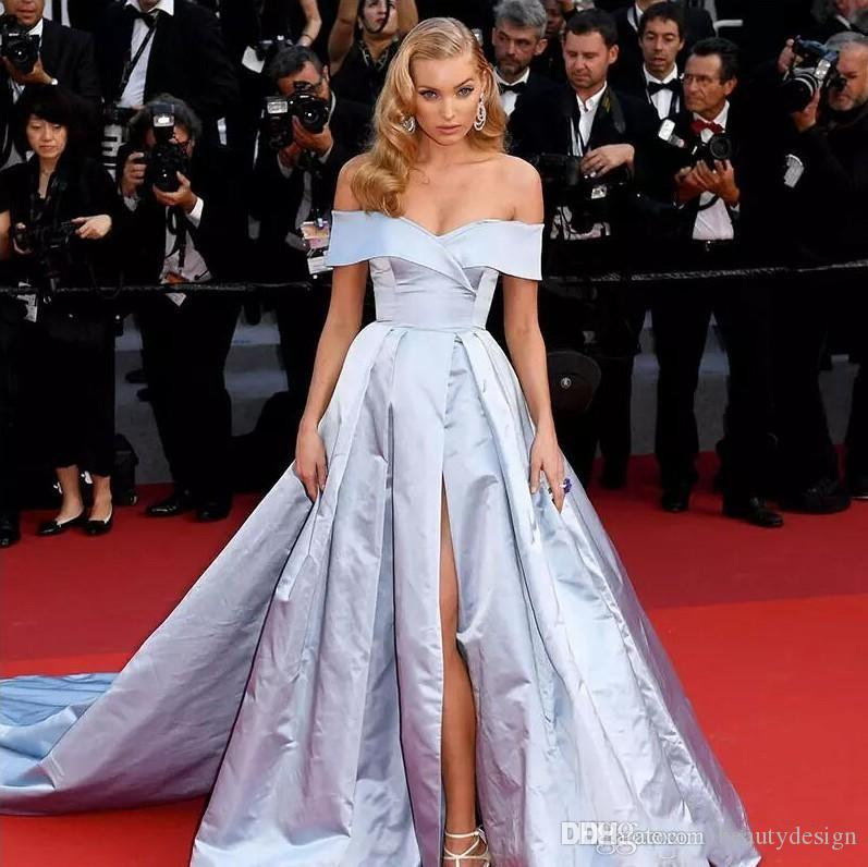 Red carpet celebrity dresses 2019 gorgeous off shoulder - Designer red carpet dresses ...