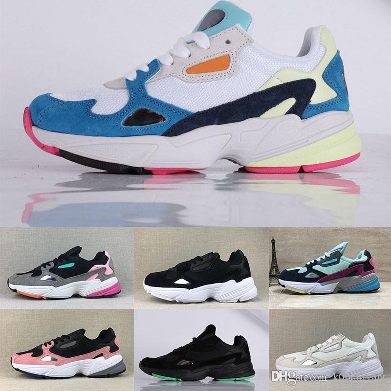 size 40 e8d24 1a3ed Compre 2019 Nuevo Nike Falcon W Dad Diseñador Casual Hombres Mujeres Zapatos  Falcon W Fuchsia Negro Light Granite Gris Rosa Moda Zapatillas De Deporte  De ...