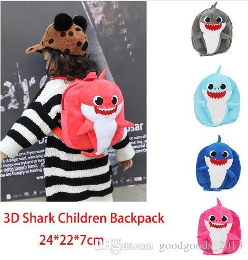 2d4191ceaed1 Cartoon 3D PinkFong Plush Backpack School Bag Girl Boy Kids Children School  Bags Shark Backpacks Baby Infantil Escolar Mochilas Z338 Backpack Retailers  ...
