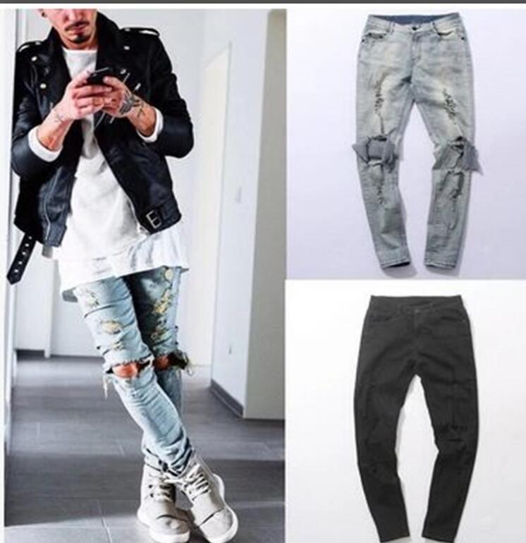 06c19bfc4d0 2019 Men Biker Jeans Hiphop Street Designer Rock Star Destroyed ...