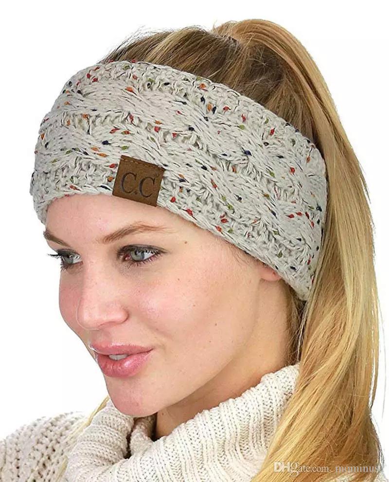 Knitted Headband Adults Man Woman Sport Winter Warm Beanies Hair ... 0efedd26fceb