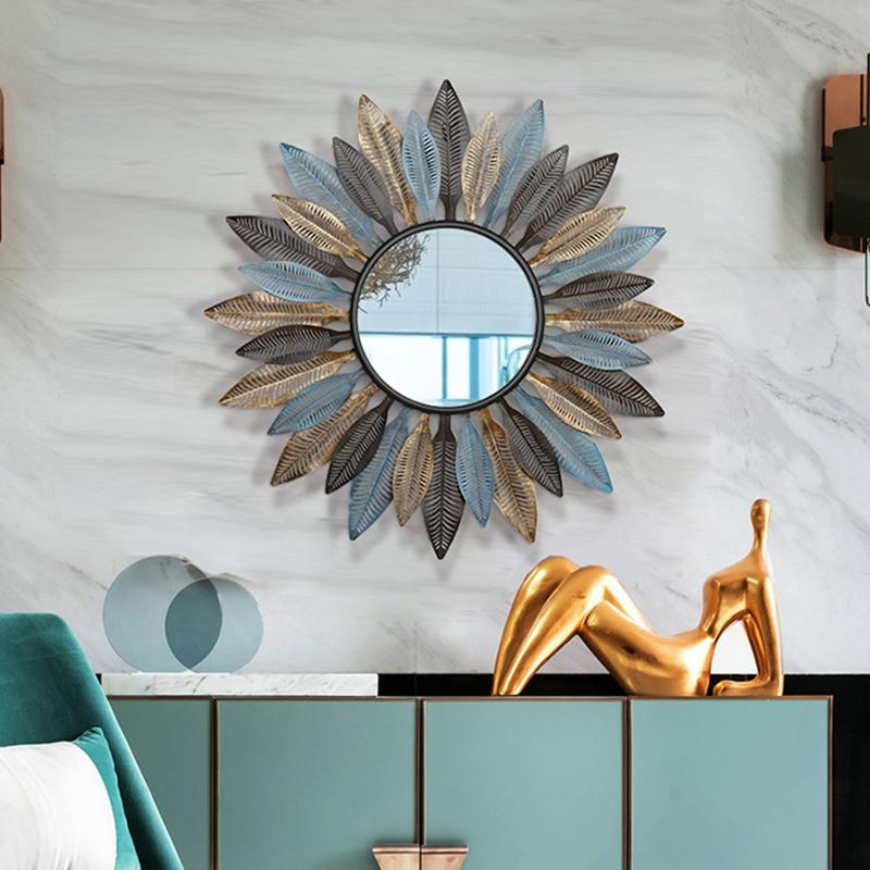 Modern European American Living Room Wall Hanging Mirror Sun ...