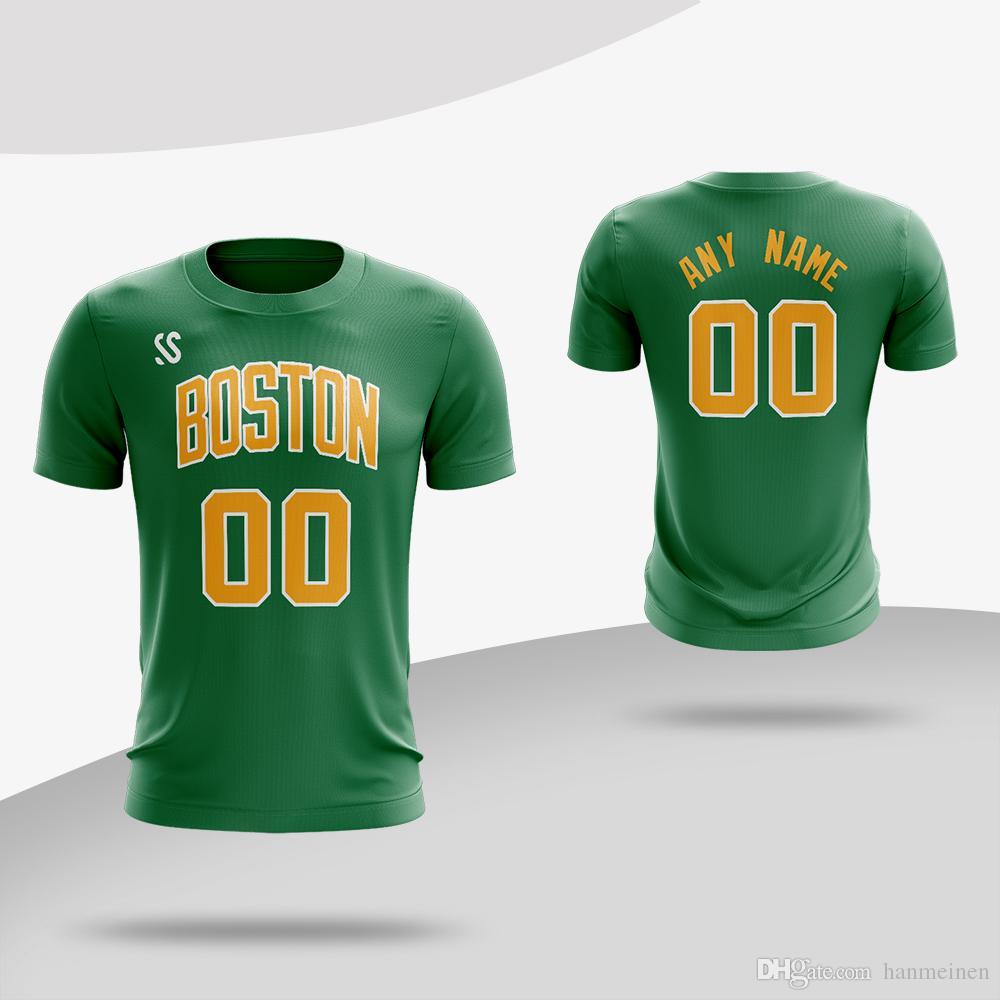 e662d1a9c2ec Compre Camisa Deportiva De Secado Rápido Camisetas De Entrenamiento Camiseta  De Baloncesto De Boston Para Hombre Camiseta De Manga Corta A $10.36 Del ...