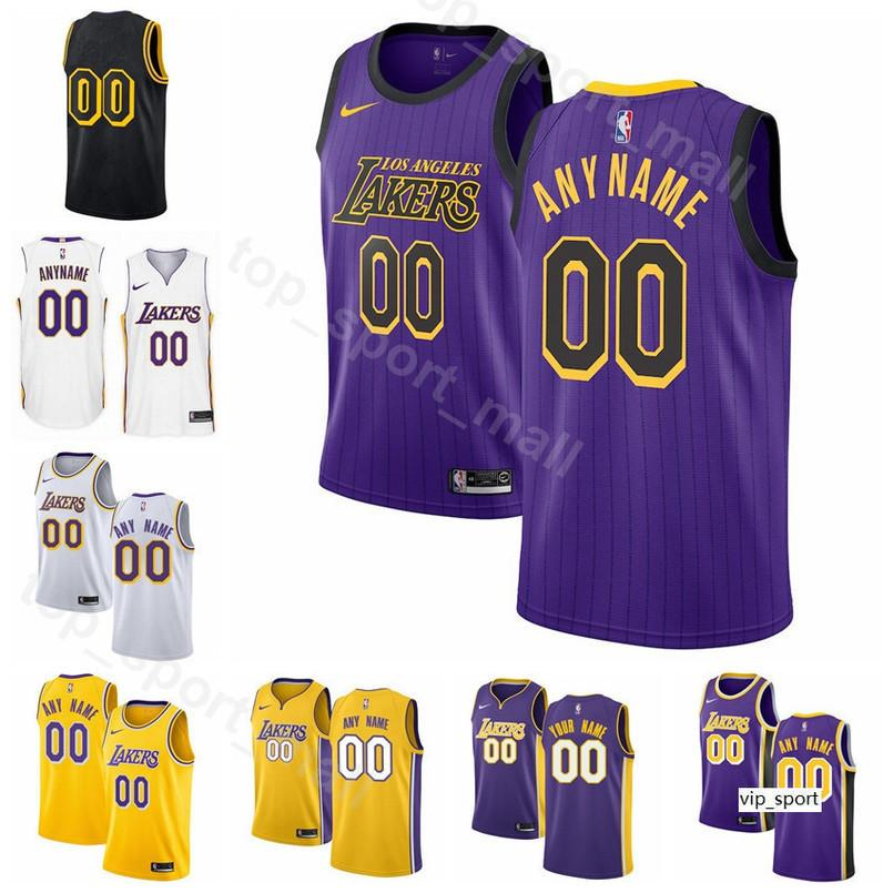 super popular 276a2 bd7e3 Print Men Youth Women Basketball Jersey LA LeBron James Kyle Kuzma Lonzo  Ball Rajon Rondo Brandon Ingram Edition City Shirts