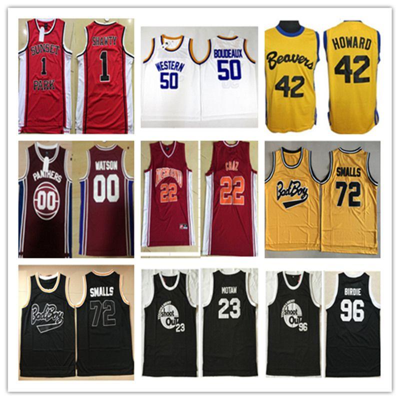 NCAA Movie Jerseys  96 Tupac Shakur Dirbie 72 Biggie Smalls Out ... eee0174e4