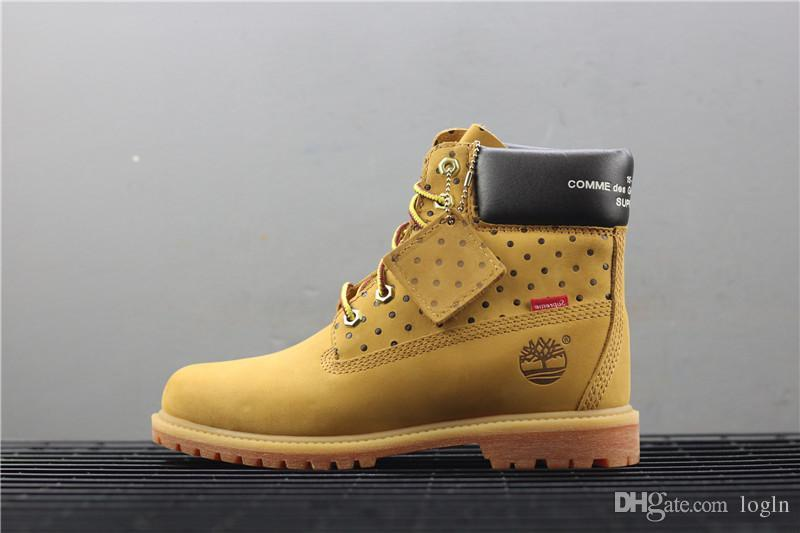 b96fc90a61d8 2018 19 New Original Timberland Brand Boots Women Men Designer 2Sports Red  White Winter Sneakers TBL Casual Trainers Mens Women Luxury ACE Yellow Shoes  Gold ...