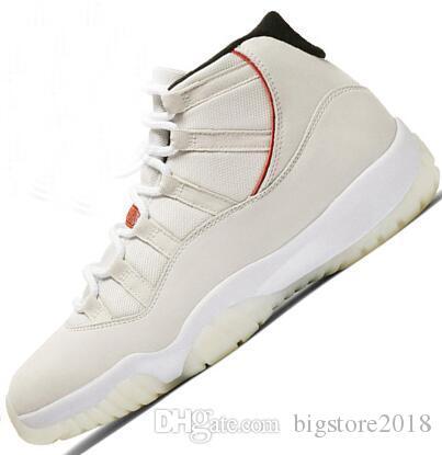new style 879c1 6e979 Acheter Nike Air Jordan Retro Retros 11 Hommes 11s Chaussure De Basket Ball  Concord 45 Espace Platine Espace Couleur Jam Gym Rouge Gagner Comme 96 XI  ...