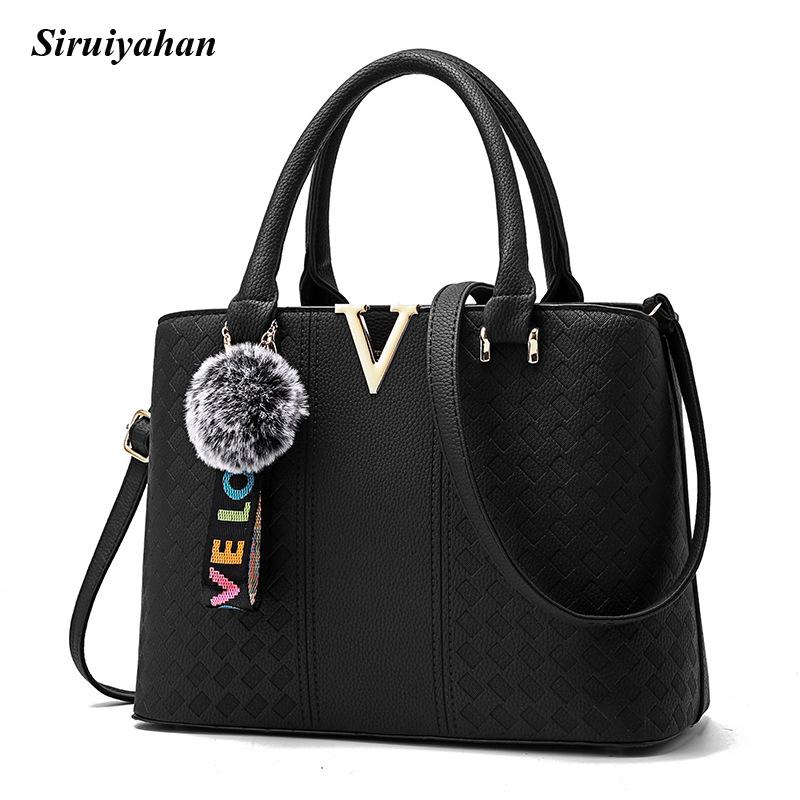 299584e38c25 Siruiyahan Women Bag Shoulder Crossbody Bags for Women Leather Handbags  Top-handle Bags Bolsa Feminina Ladies Hand Shoulder Bags Cheap Shoulder Bags  ...