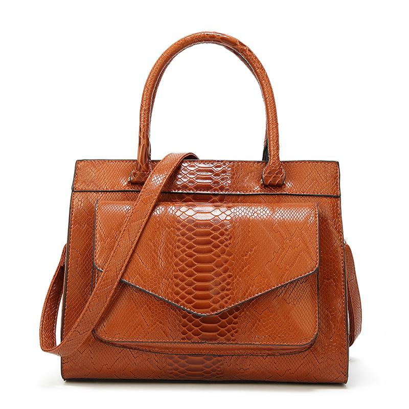 2d292b9086d Serpentine Pattern Handbag Big Bag Luxury Women Fashion Shoulder Bags Large  Leather Tote Bag For Office Lady Simple Handbags