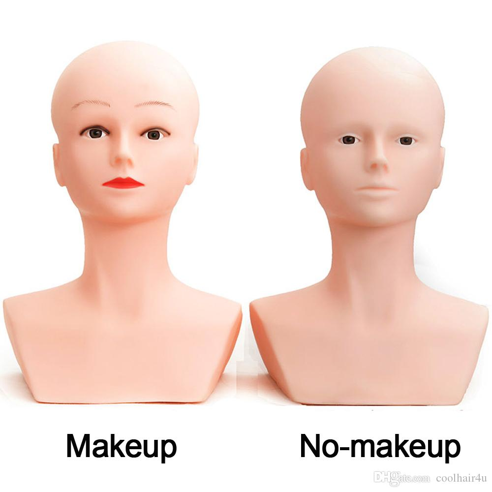 Soft Female Mannequin Head With Shoulder fFor Wig Jewelry And Hat Display Makeup Dummy Model Head