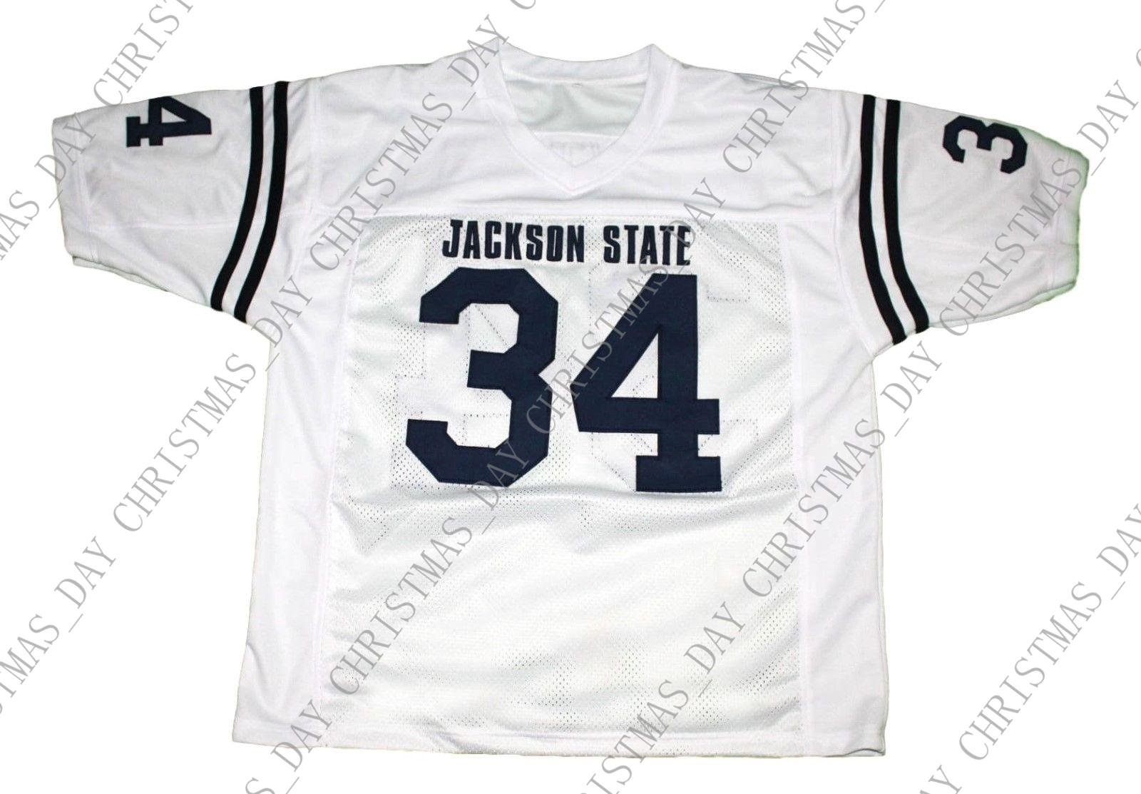 promo code 52750 2a60a wholesale Walter Payton #34 Jackson State New Football Jersey White  Stitched Custom any number name MEN WOMEN YOUTH Football JERSEY