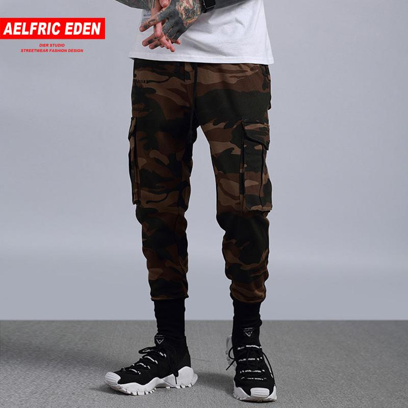 7f2d948186d0c Compre Aelfric Eden Men Jogger Pantalones De Chándal De Moda Pantalones  Cargo De Camuflaje Hombre Slim Fit Pies Hip Hop Pantalones Harem Salvaje  Casual A ...