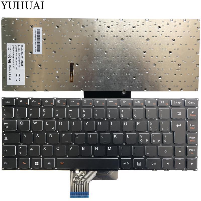 NEW Italian keyboard FOR LENOVO ideapad U430 U430P U330 U330P U330T IT  Laptop keyboard with backlit no frame