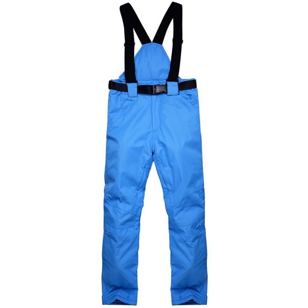 Winter Warm Men Waterproof Breathable Pants Autumn Ski Solid Suspenders Casual