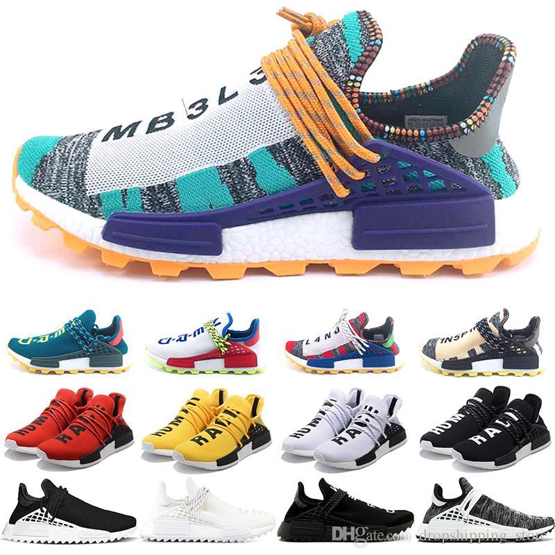 4af524d46e542 2019 Hu NMD Human Race Boost Trail Men Women Running Shoes Solar ...