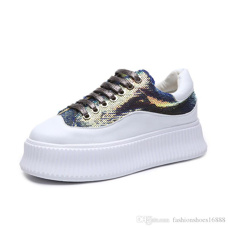 0d78768a58 New Bling Shiny Sequines Womens Casual Shoes Soft Chunky Platform Shoes  Fashion Sneakers Breathable Glitter Travel Walking Shoes Silver Shoes  Casual Shoes ...