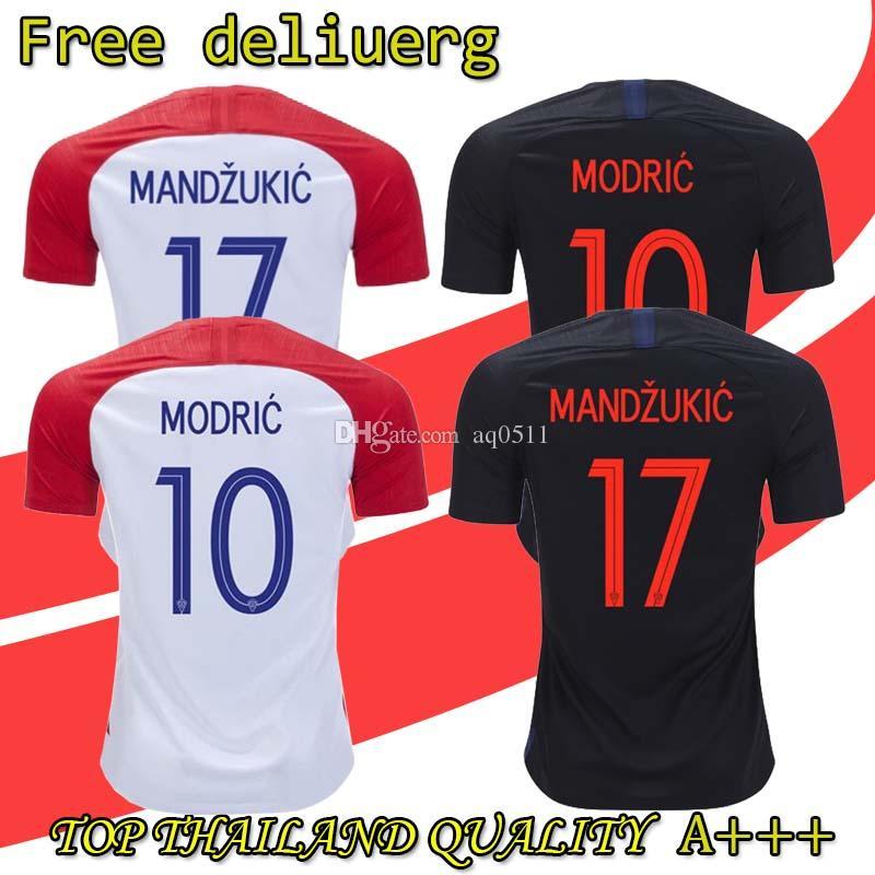 a1c7bbb87 2019 2018 World Cup National Home Soccer Jersey Hrvatska KRAMARIC MODRIC  MANDZUKIC RAKITIC PERISIC KALINIC SRNA KOVACIC Football Shirt From Aq0511,  ...