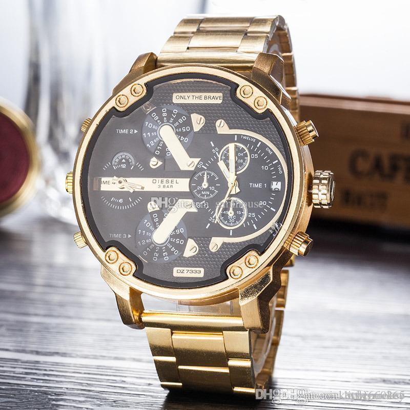 2f9b555de597 Aaa Luxury Watch Mens Watches DZ Only Bravel Brand Fashion Sport Designer  Wristwatch Stainless Steel Strap Reloj De Lujo Men Watch Montre De Luxe ...
