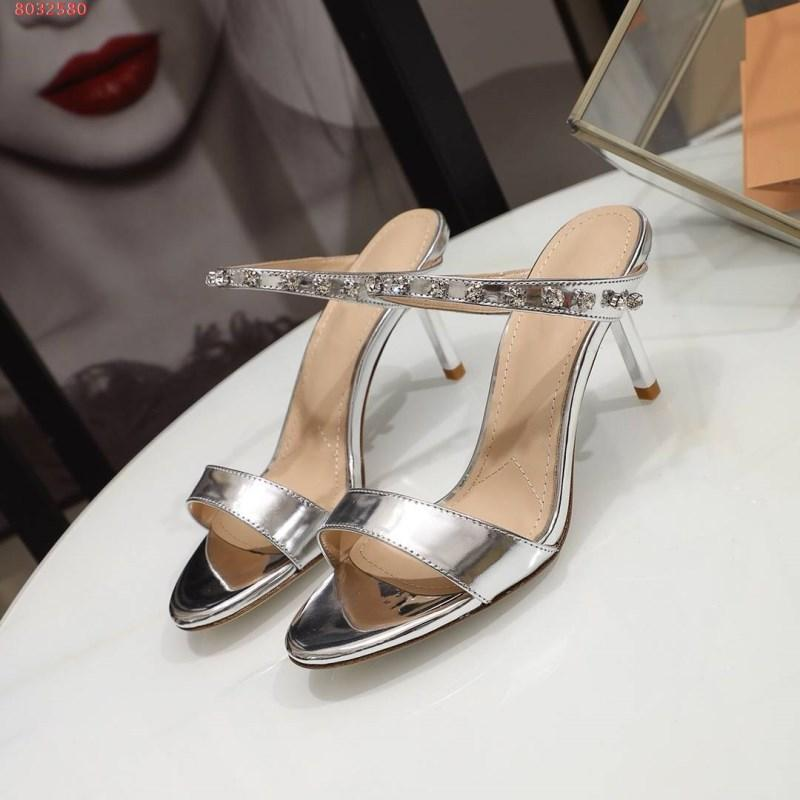 2019 Spring /summer New style on the market, Women diamond-encrusted high-heeled slippers, street style fashion slippers,Size 35-39