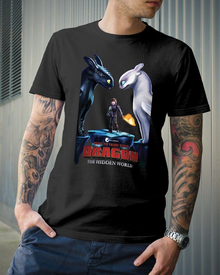 Satn Al Ejderhan Nasl Eitirsin 2 Gizli Dnya Klasik T Shirt Serin Rahat Gurur Gmlek Erkekler Unisex 1066