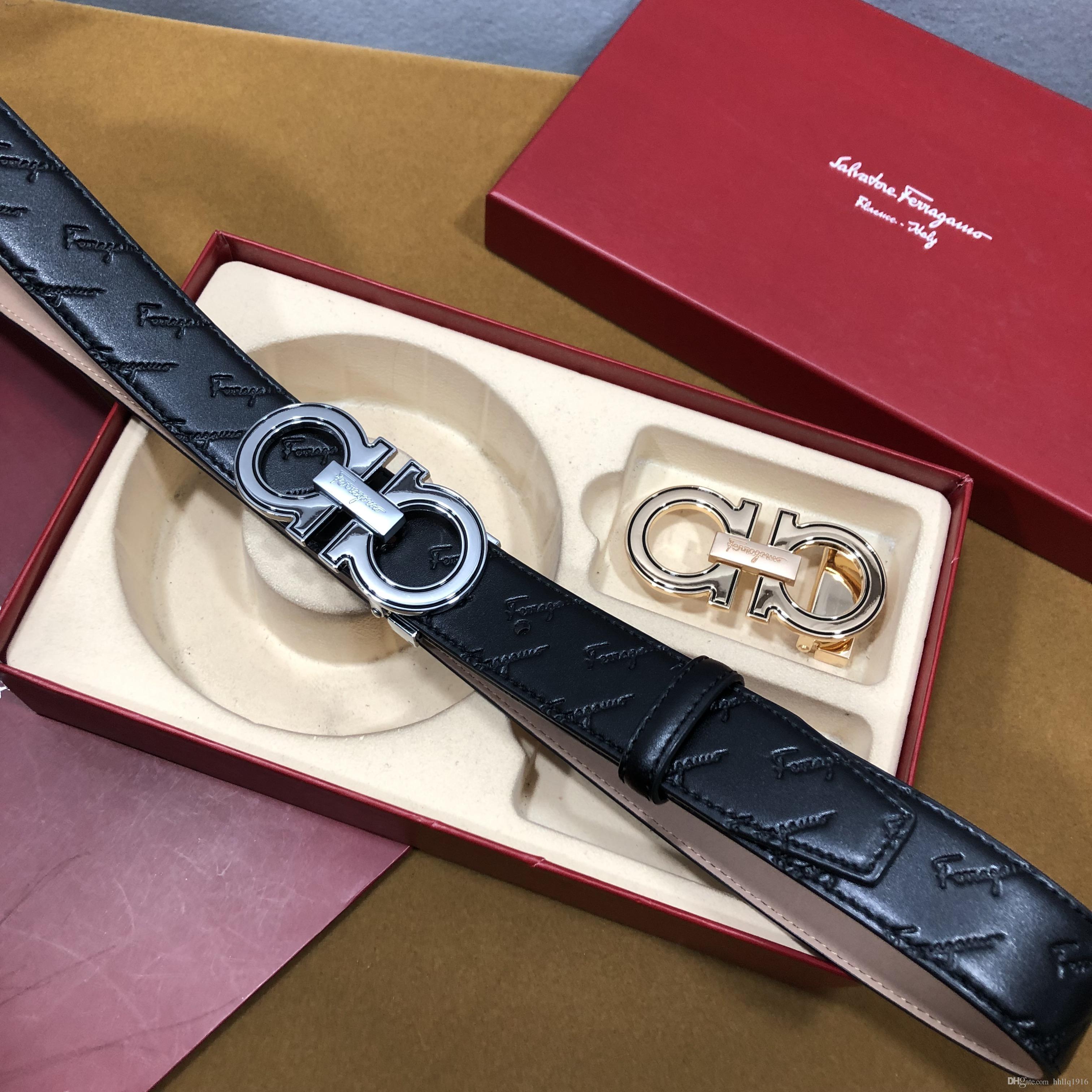 How To Tell If A Ferragamo Belt Is Real >> Hot Sell Ferragamo Belt Men Business Belts Genuine Belts Designer 8 Shaped Buckle Women Leather Waist Send Gift Box Two Buckle