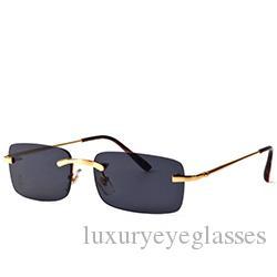 cbb59f19d03 Fashion Classic Sunglasses Clear Lens Optical Frame Rimless Buffalo ...