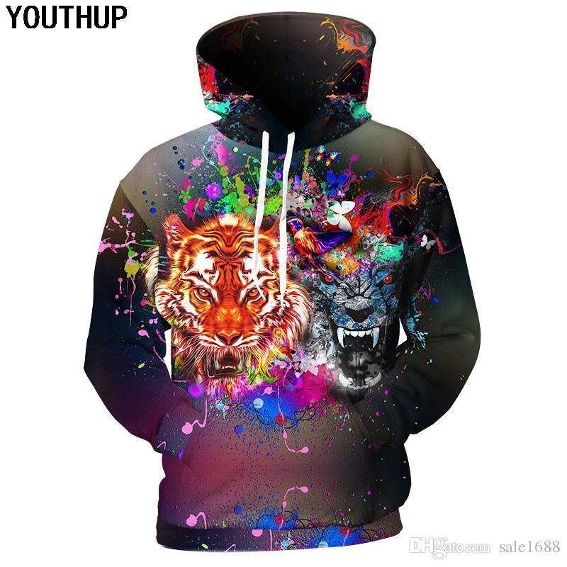 764424563887 2019 2018 3d Hoodies Men Double Tiger 3d Print Hooded Sweatshirts Long  Sleeve Men Hoodies 3d Pullover Plus Size Tracksuits From Sale1688
