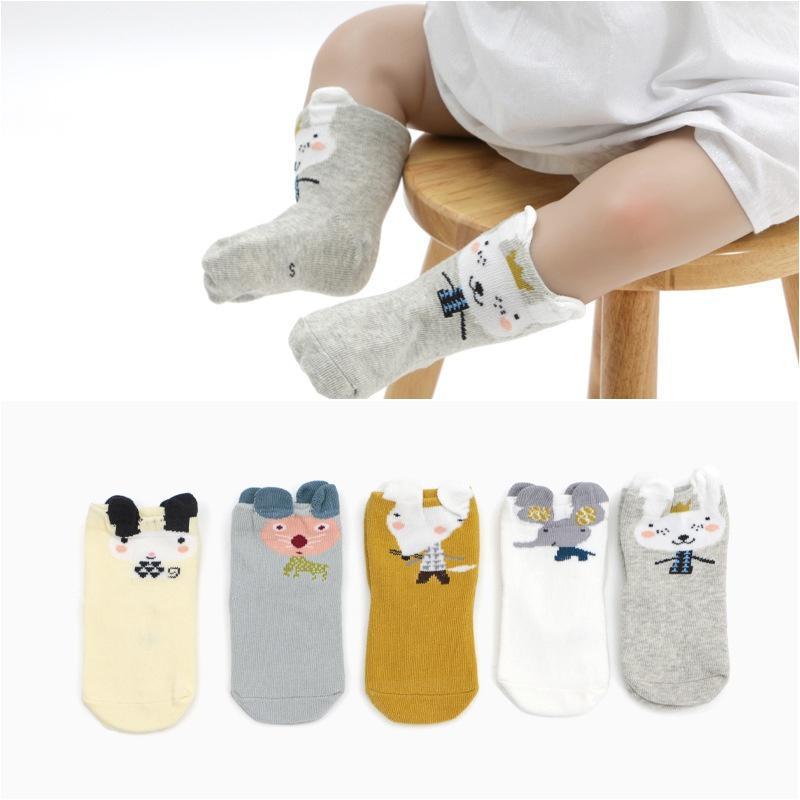 Compre 5 Unids   Set Bebé Calcetines Calientes Otoño Primavera Chica Niño  Niños Lindo De Dibujos Animados Impreso Calentadores De Pierna De Algodón  Suave ... 0b29252f762