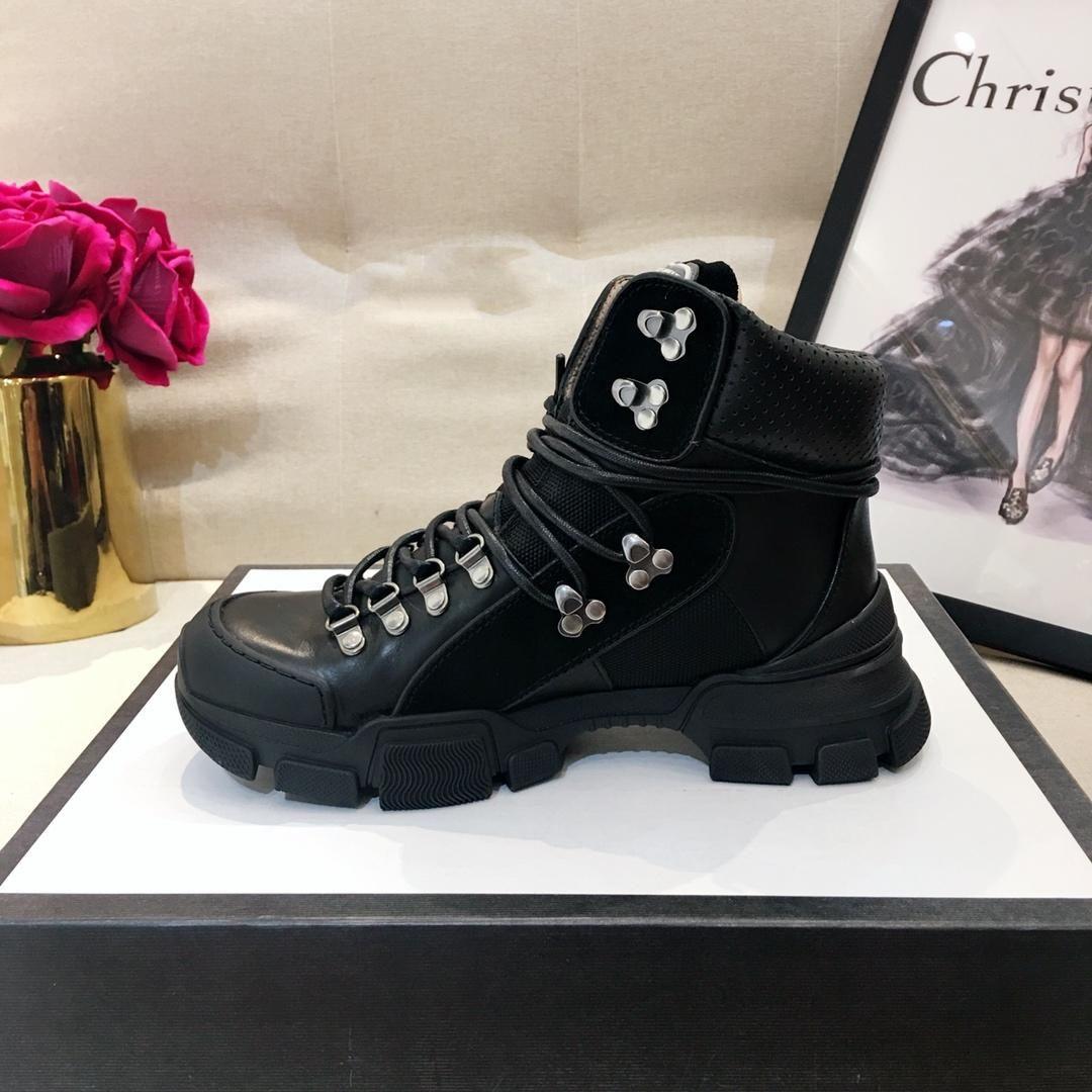 best service 73c22 3caa6 2018 Neue Flashtrek Sneaker Damen braune Leder Sneakers Luxury Rubber Logo  Designer Sneaker Boots technische Segeltuchschuhe für Damen