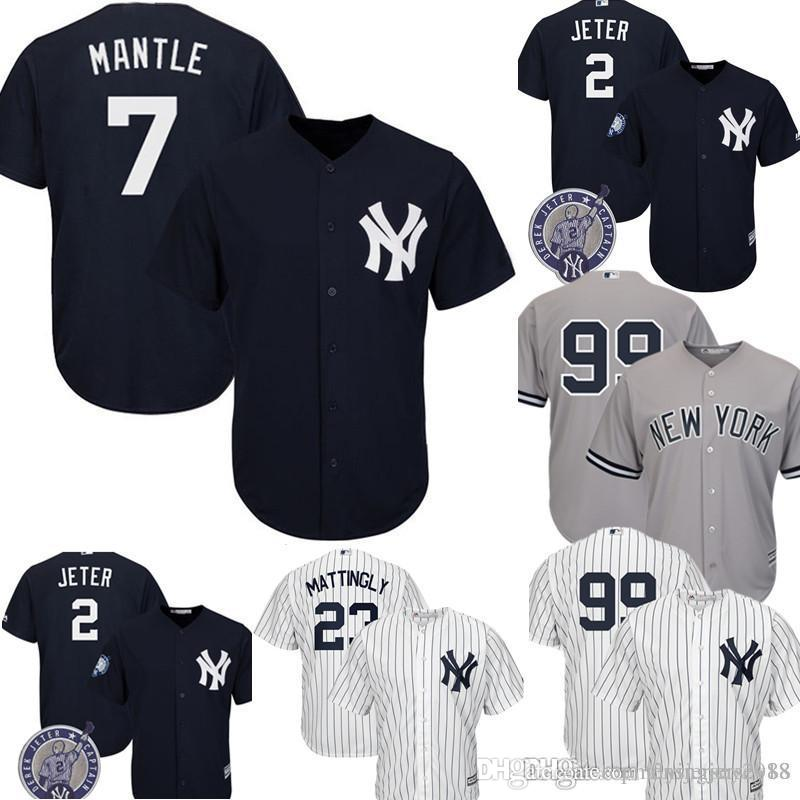 sports shoes f5011 cd30e New York Top Yankees Mickey Mantle Jersey Men's Majestic Cool Base Player  Replica Jersey Embroidery Baseball Jerseys M-XXXL