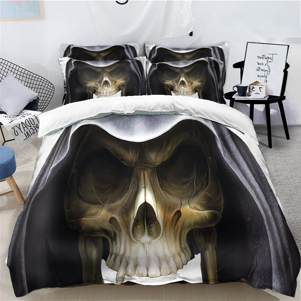 Halloween Bedding Set For Kids Adults Funny Gift 3d Duvet Cover Set